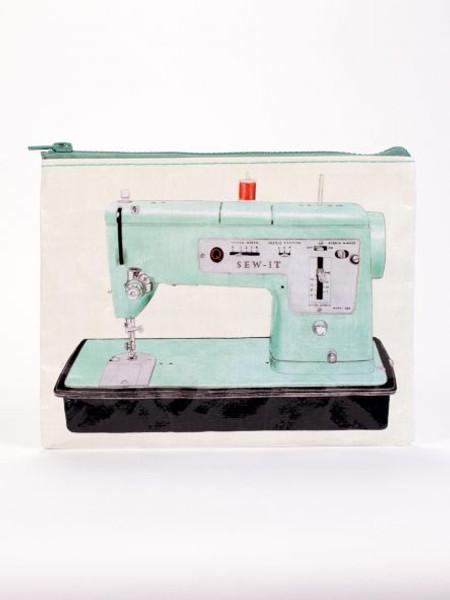 Vintage sewing machine zipper pouch