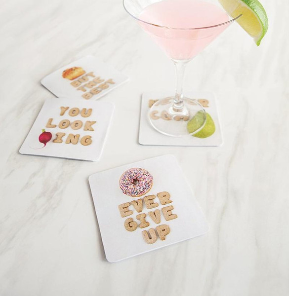 Empower food pun coasters
