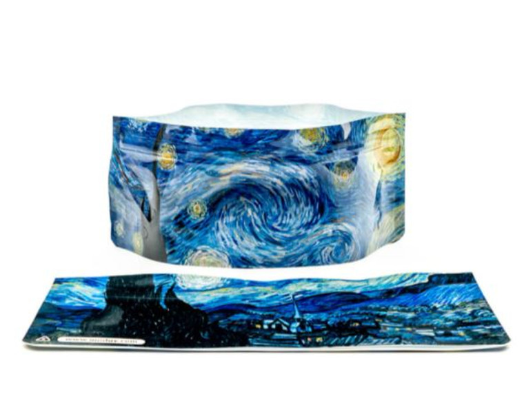 Starry night collapsible dog bowl