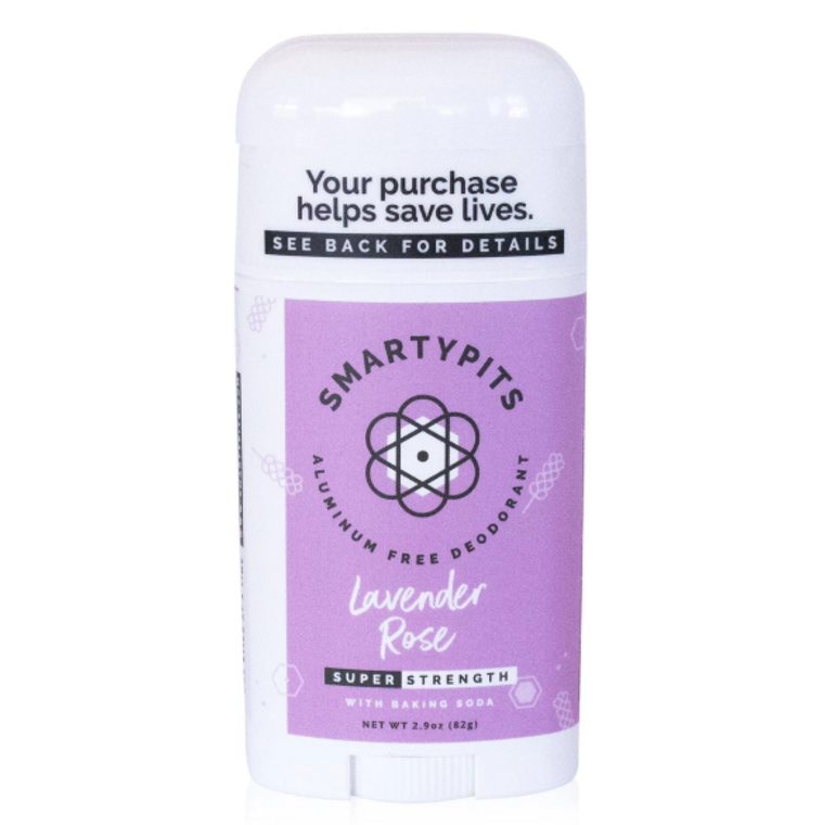 Lavender and rose smartypits deodorant lg sensitive