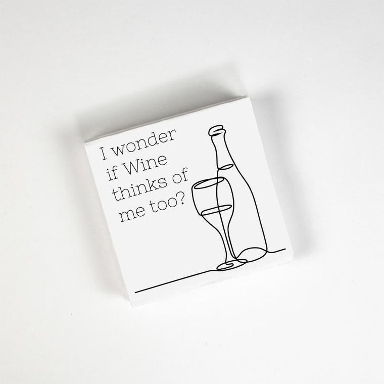 I wonder if wine napkins