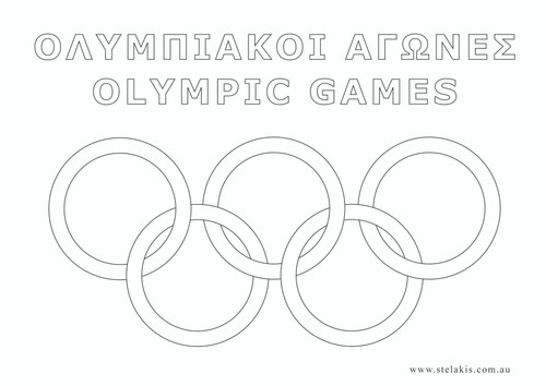Olympic Games Colour-Me-In