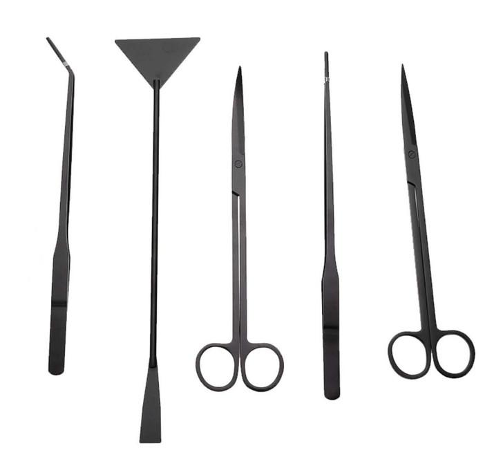 Aquascape Tool Kit (5- Pieces) Black *Bonus Case