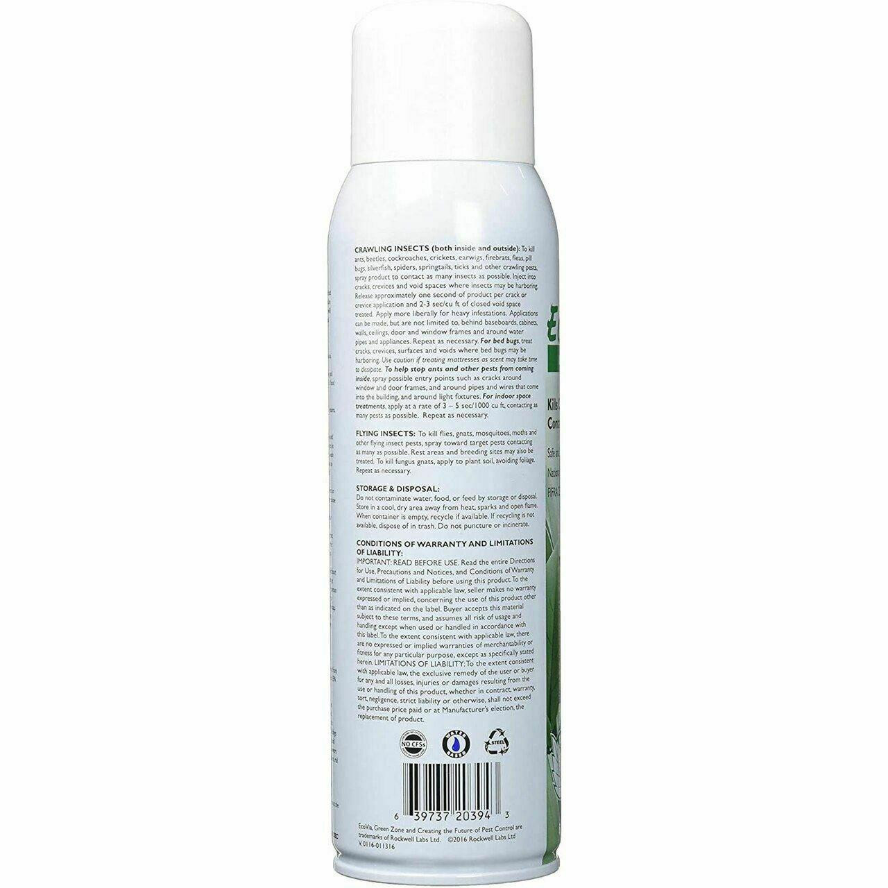 Rockwell Labs EVCA016 EcoVia CA Insecticide Contact Aerosol