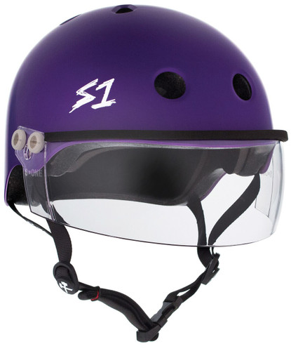 "The Lifer w/ Visor Gen 2's new In Mold Mounting System will allow you to take the Visor on and off and replace if needed featuring a Strap Rivet hole for a flush and secure  mount.  Our patented ""Cover Catcher"" that will allow for multiple helmet covers to be easily put on and off without slipping up or flying off."