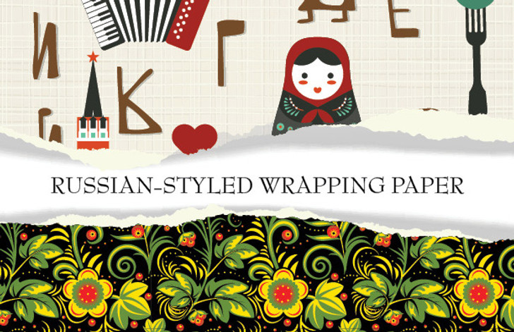 Russian-Styled Wrapping Paper