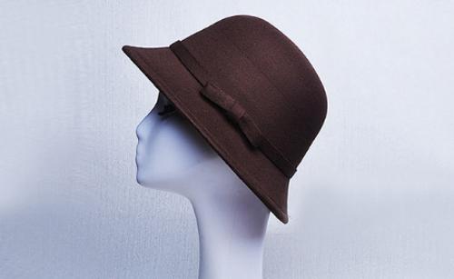 Brown Felt Ladies Hat