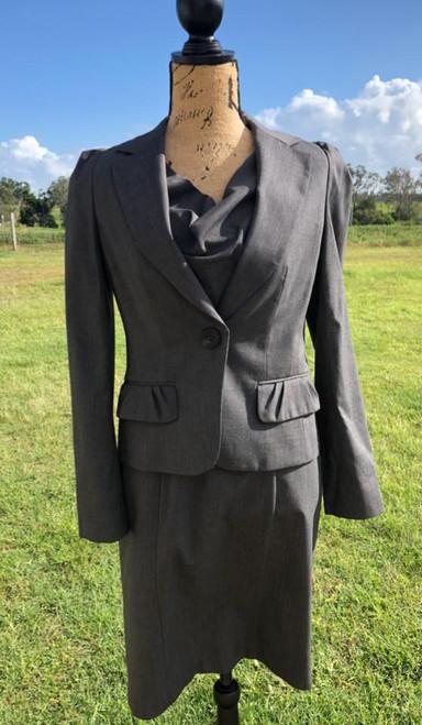 Grey Check Dress and Jacket