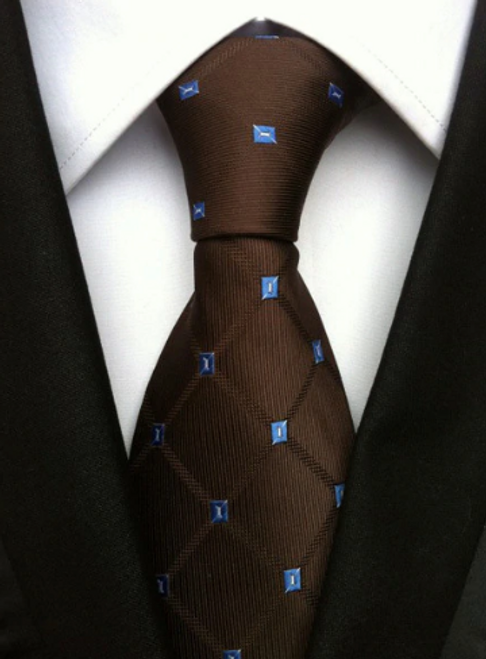Brown and Blue Hunter Tie