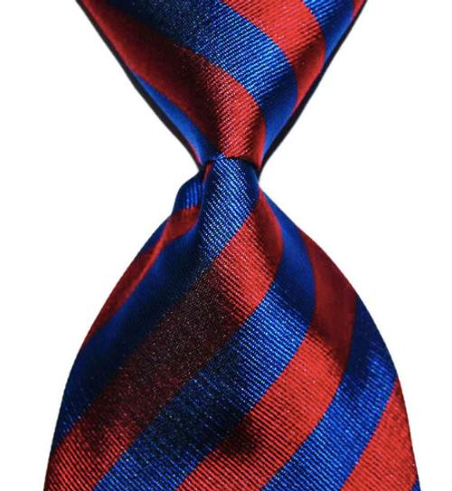 Dark Red and Blue tie