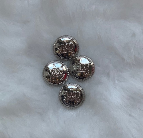 Canterwood Silver Crown Buttons