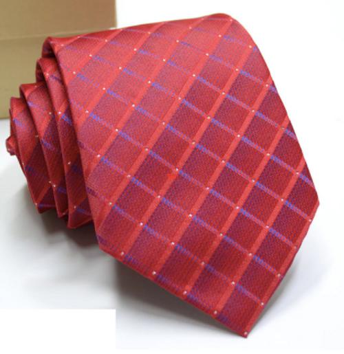 Red and Navy Diamond Tie