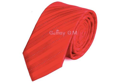 Red Double Stripe Tie