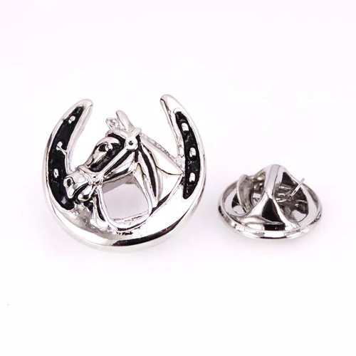 Silver Horse Shoe Pin
