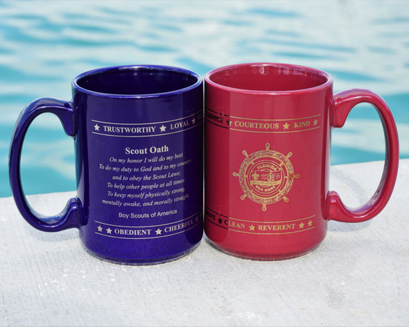 15Oz Cobalt Mug Scout Oath Adventure Outfitters
