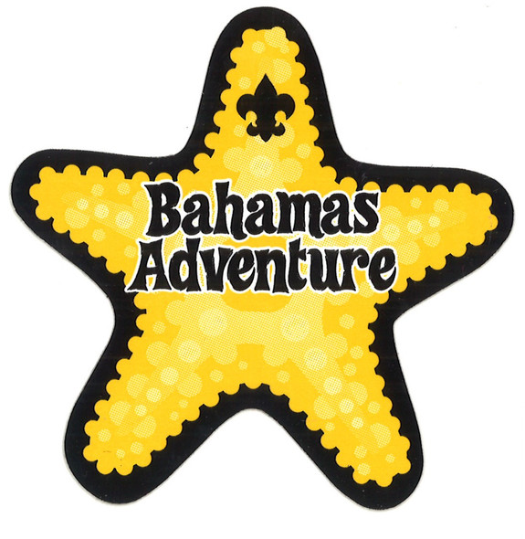 Sticker Bahamas Adv. Starfish Adventure Outfitters