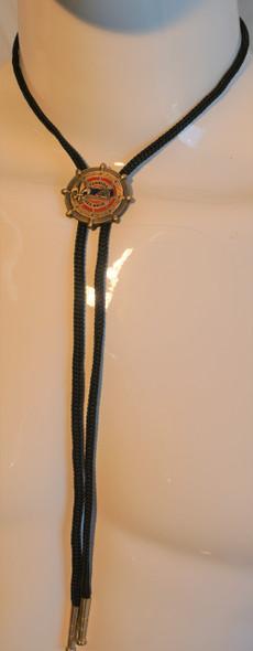 Bolo Black Rope-Gold Fsb Logo Symbol Arts