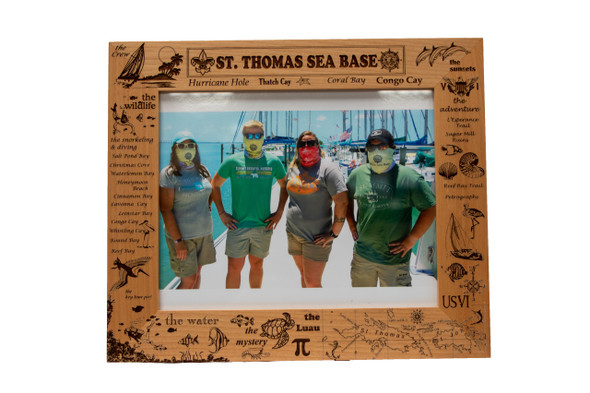 8X10 Wooden Frame St. Thomas Kingwood Lazer Graphics