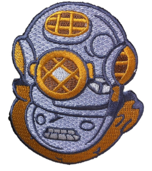 Diving Helmet 2-1/2 X 3-1/4 A-B Emblem