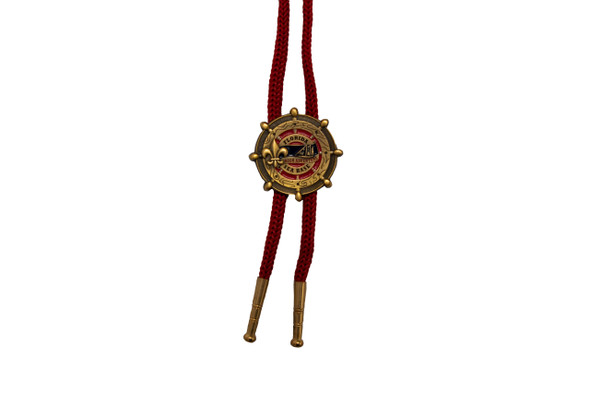 Bolo Red Rope-Gold Fsb Logo Symbol Arts