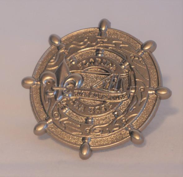 Neckerchief Slide Silver Symbol Arts