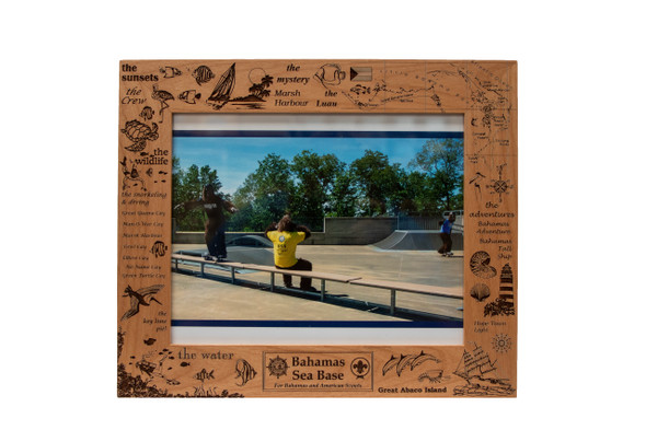8X10 Wooden Frame Bahamas Kingwood Lazer Graphics