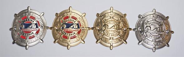 FSB Walking Staff Gold W/Color Symbol Arts