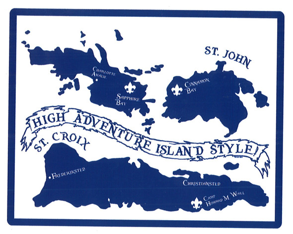 Sticker High Adventure Island Adventure Outfitters