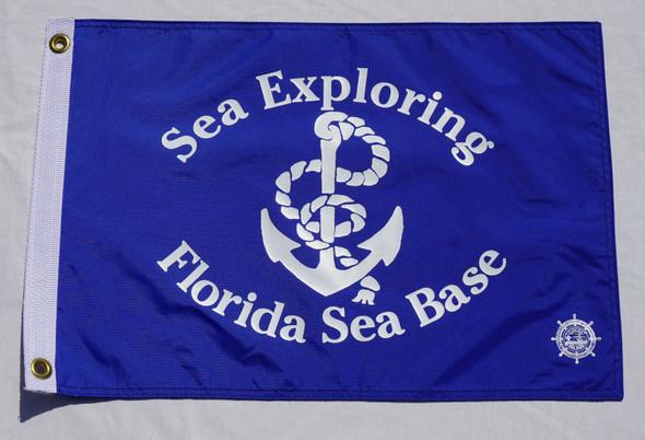 Sea Exploring Blue Flag 12X18 Flappin Flags