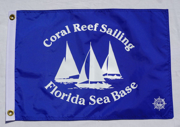 Coral Reef Flag Navy 12X18 Flappin Flags