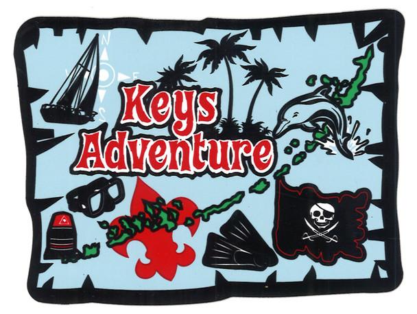 Sticker Keys Adventure Map Adventure Outfitters