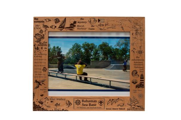 8X10 Wooden Frame Bahamas Kingwood Lazer Graphics