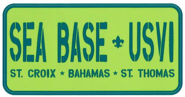 Sticker Sea Base USVI Adventure Outfitters