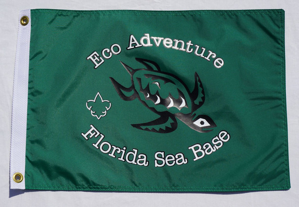 Eco Adventure Flag Green 12X18 Flappin Flags