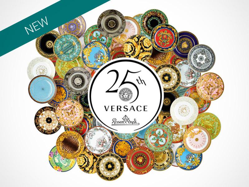Versace 25 Years logo.