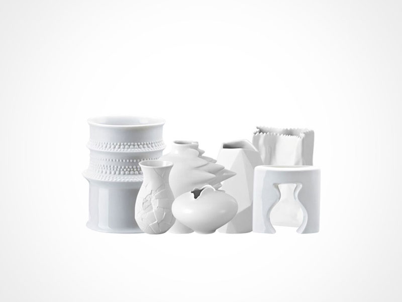 Rosenthal Mini Vases on white background