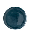 thumbnail image of Dinner Plate, #2, Relief Front & Back, 10 5/8 x 10 1/4 inch | Junto Ocean Blue