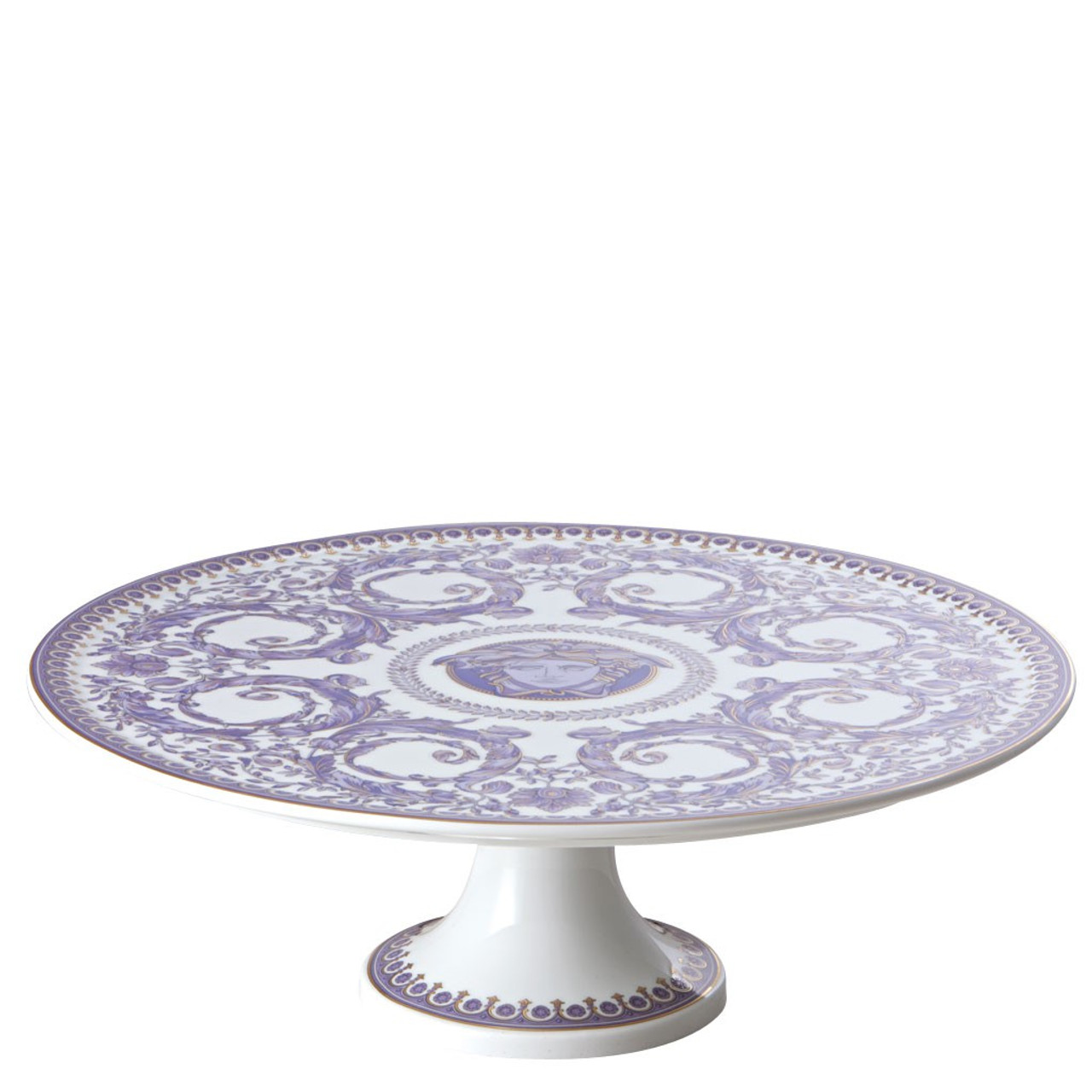 Footed Cake Plate 13 Inch Versace Le Grand Divertis T