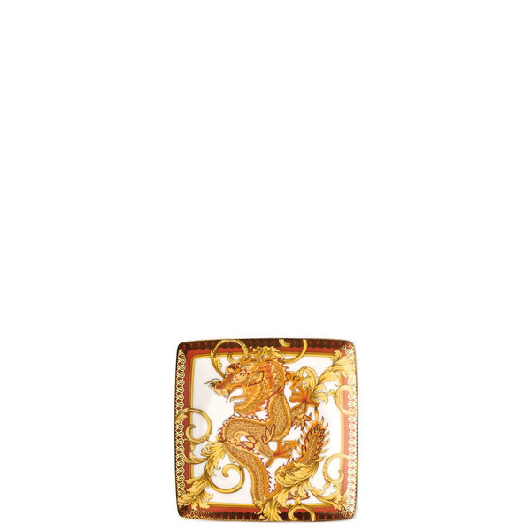 Canape Dish Porcelain, Square, 4 3/4 inch | Versace Asian Dream