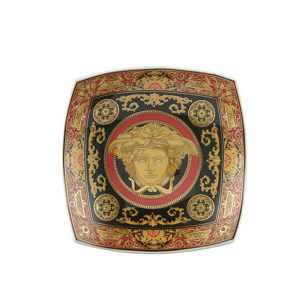 Candy Dish, Porcelain, 5 1/2 inch | Versace Medusa Red