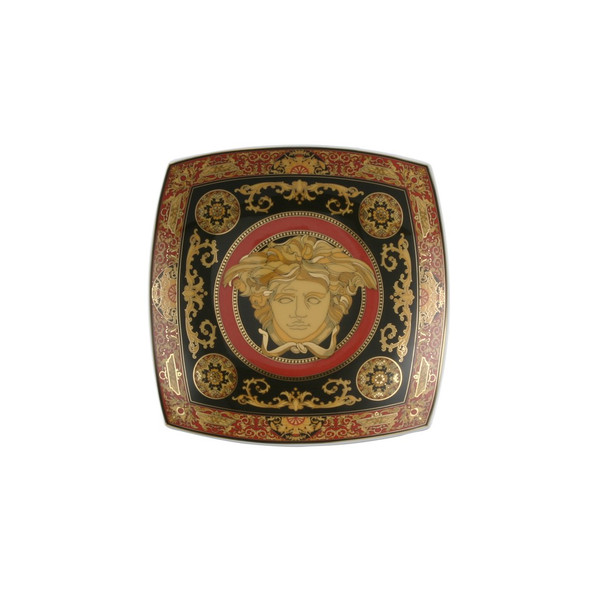 Candy Dish, Porcelain, 7 inch | Versace Medusa Red