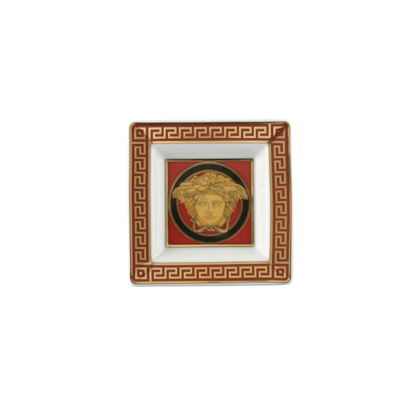 Tray, Porcelain, 3 1/4 inch | Versace Medusa Red