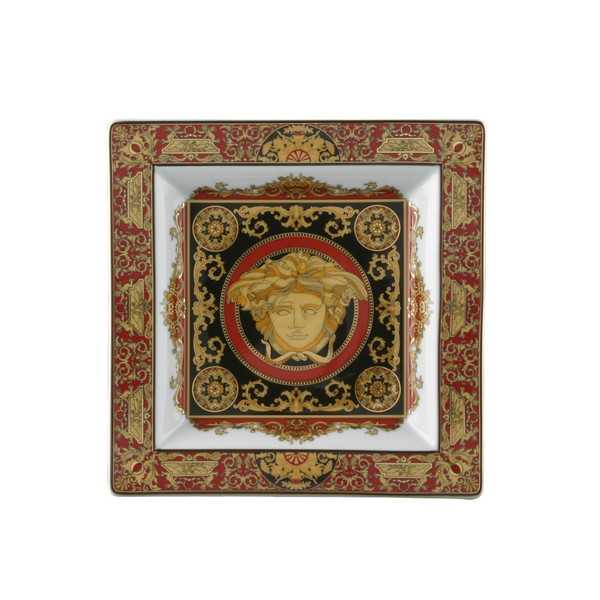 Tray, Porcelain, 8 1/2 inch | Versace Medusa Red