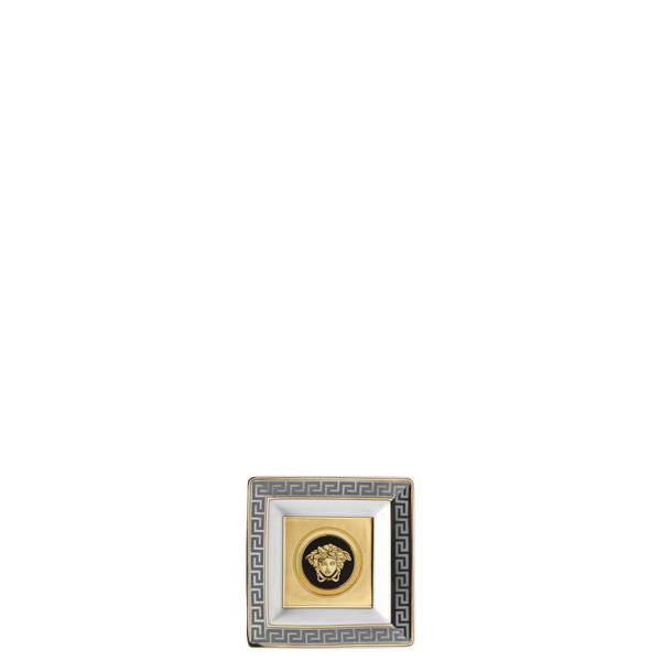 Tray, Porcelain, Square, 3 1/4 inch | Versace Prestige Gala
