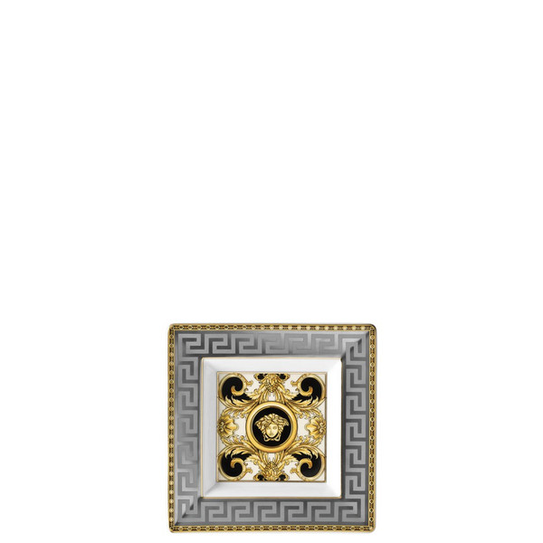 Tray, Porcelain, Square, 5 1/2 inch | Versace Prestige Gala