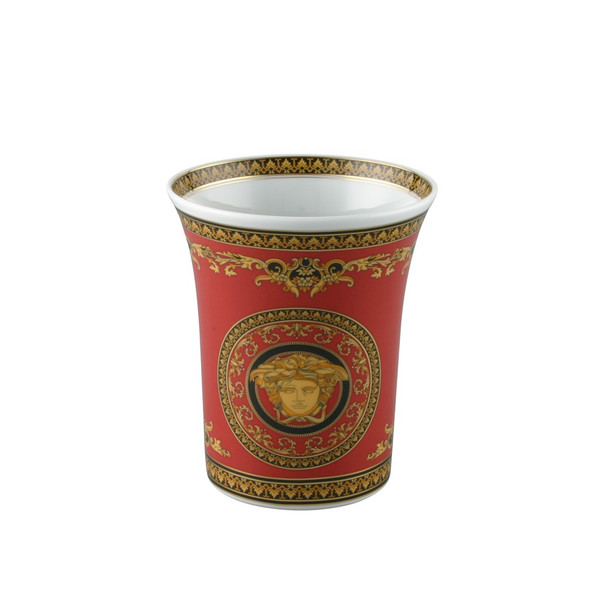 Vase, Porcelain, 7 inch | Versace Medusa Red