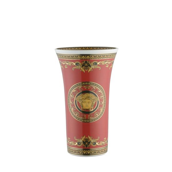 Vase, Porcelain, 10 1/4 inch | Versace Medusa Red