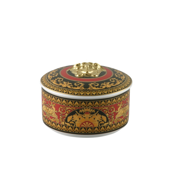 Covered Box, Porcelain | Versace Medusa Red
