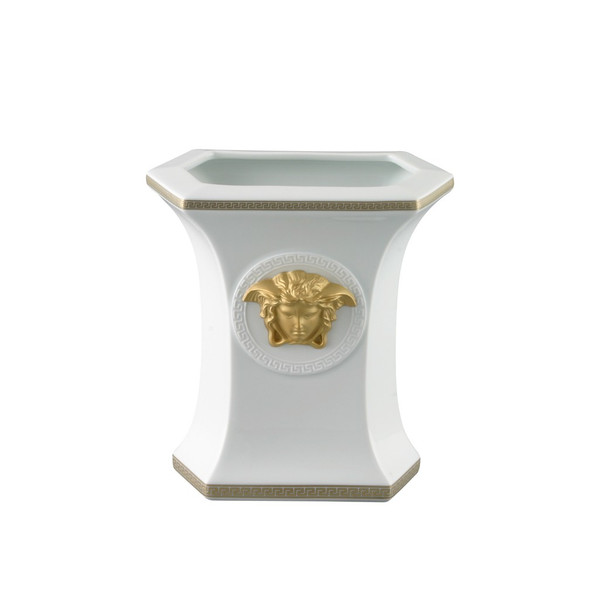 Vase, Porcelain, 7 inch | Versace Gorgona