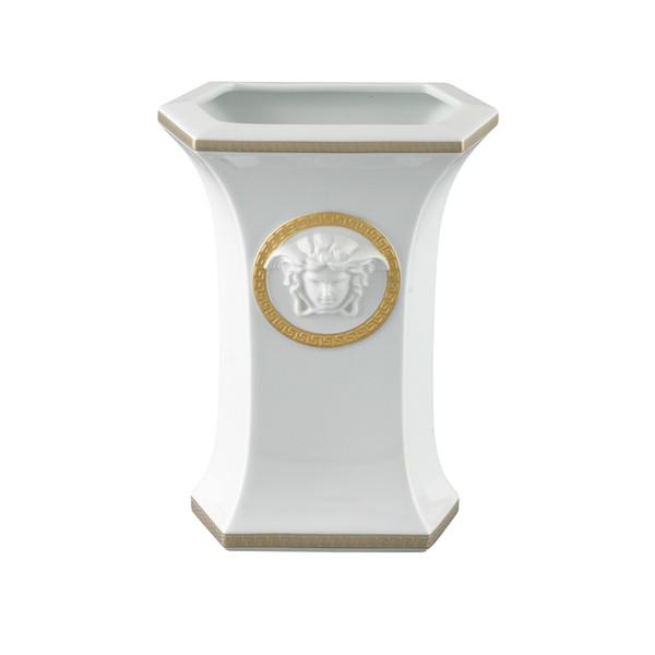 Vase, Porcelain, 9 inch | Versace Gorgona